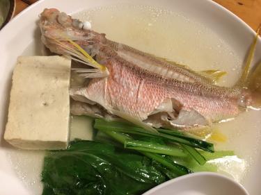 マース煮で食べる魚。