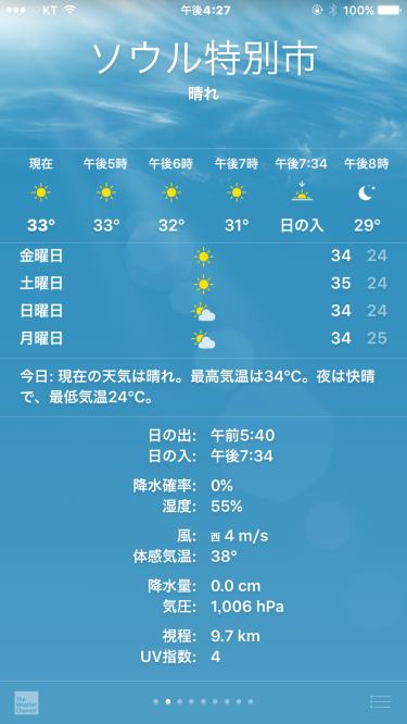 体感気温38度ってなに?w