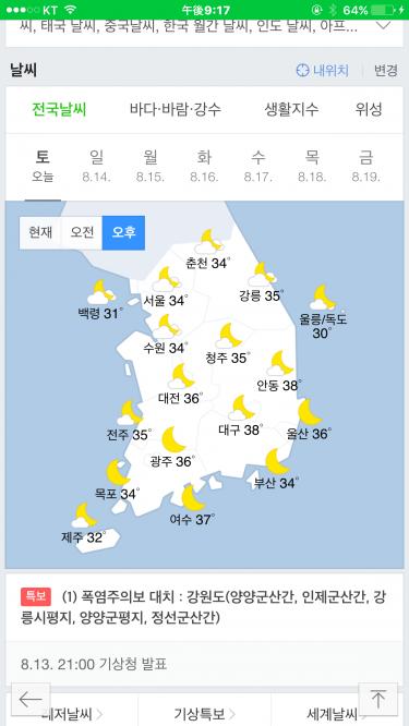 韓国ってこんなに気温が高くなる所でございましたっけ?