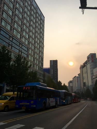 日が傾く時間も早くなりました。