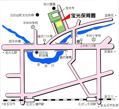 宝光保育園map