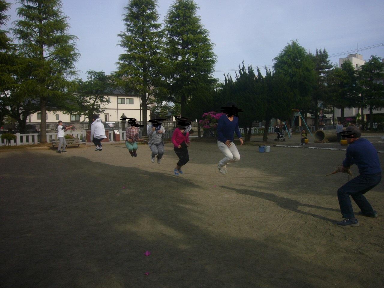 大縄跳び練習 H28.5.08