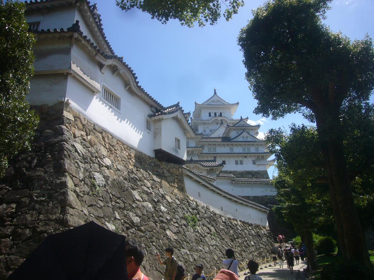 姫路城内 天守閣へ H28.8.31
