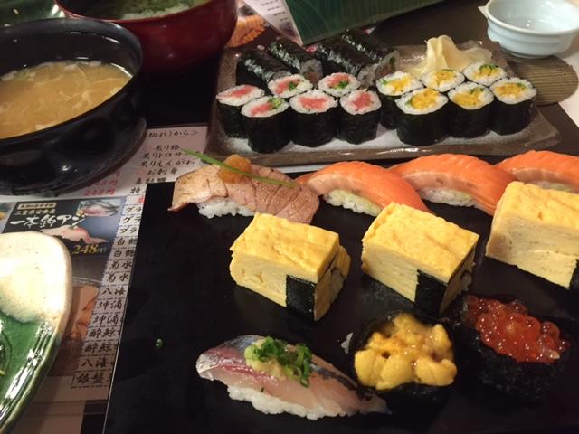 tsukiji de yamamori osushi
