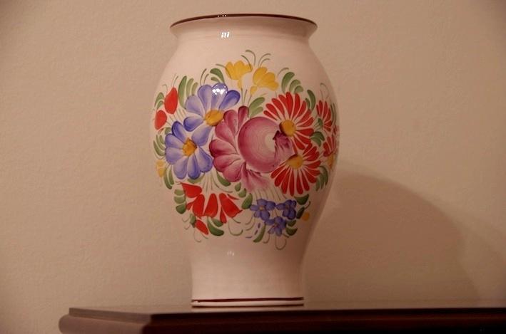 ハンドペイントの花瓶