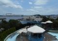 アクアミュージアムの屋上から見る八景島の景色