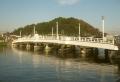 プロムナードから見た夕照橋