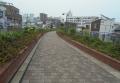 遊歩道(下を東横線が走る)
