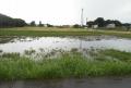水浸しになった畑