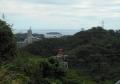 十三峠から見た猿島