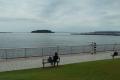芝生広場から見る猿島