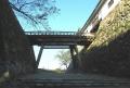 鐘の丸(左)と天秤櫓(右)を結ぶ廊下橋
