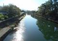 松原橋より見る彦根城の中堀