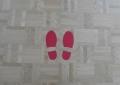 ビューポイントの足型