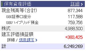 評価損益20160806