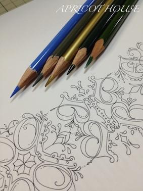160911カリグレABC色鉛筆