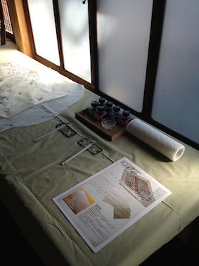161005羊皮紙展試し書きコーナー
