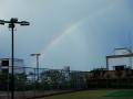 大雨後の虹 (ハクチョウ1号撮影)