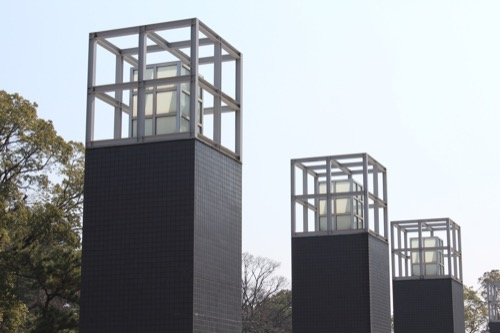 0080:和歌山県立近代美術館 灯篭をモチーフとした野外照明