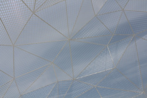 0082:直島パヴィリオン 空と同化したメッシュ