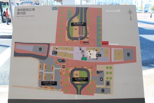 0088:JR高知駅舎 周辺地図
