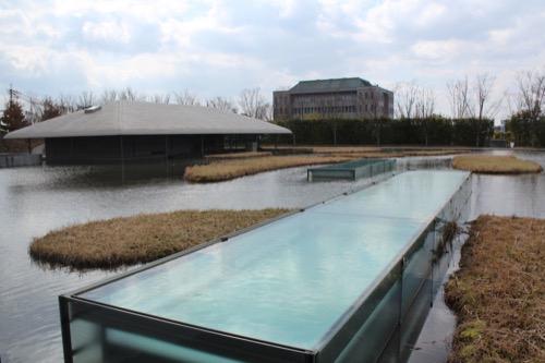0098:佐川美術館 奥に見える楽吉左衛門館