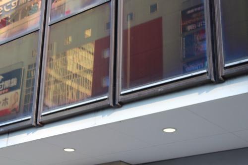 0102:きんえいアポロビル ガラスファサードのディティール