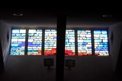 0103:日本基督教団南大阪教会 背部にあるステンドグラス