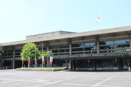 0111:奈良県文化会館 正面外観①