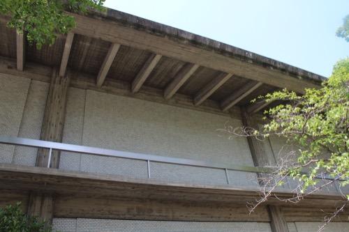 0112:奈良県立美術館 側面のファサード