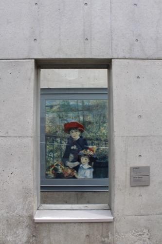 0123:京都府立陶板名画の庭 出口廊下にある「テラスにて」