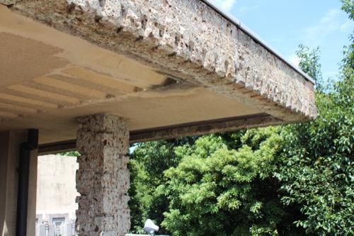 0152:ヨドコウ迎賓館 屋上バルコニーの水平庇