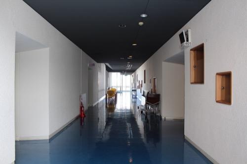 0153:芦屋市民センター 本館EV廊下①