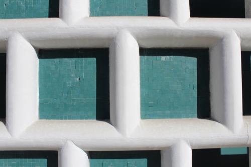 0155:大和文華館 本館なまこ壁のタイル拡大