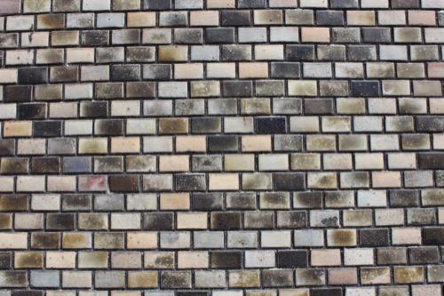 0159:岐阜市民会館 ホール外壁の大仏タイル