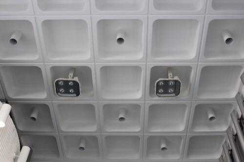 0163:旧大栄ビルヂング 天井のワッフルスラブ