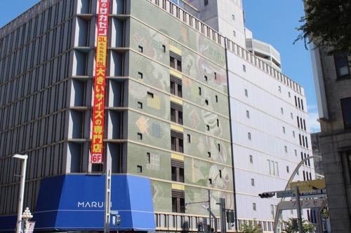 0164:丸栄百貨店 西側のモザイクファサード①