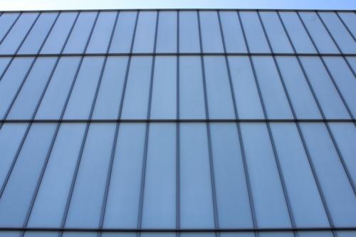 0167:豊田市美術館 本館ガラスファサード①
