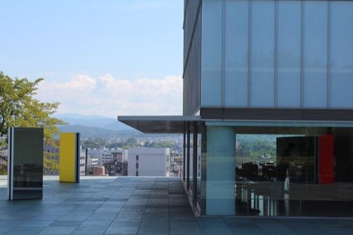 0167:豊田市美術館 レストランと豊田市の眺望