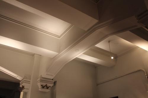 0181:生駒ビルヂング 1階の天井デザイン