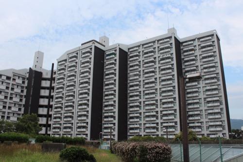 0148:市営基町高層アパート 人工地盤の上から①