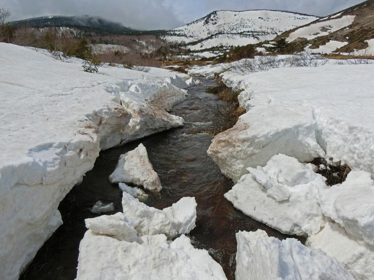 塩の川、雪融け