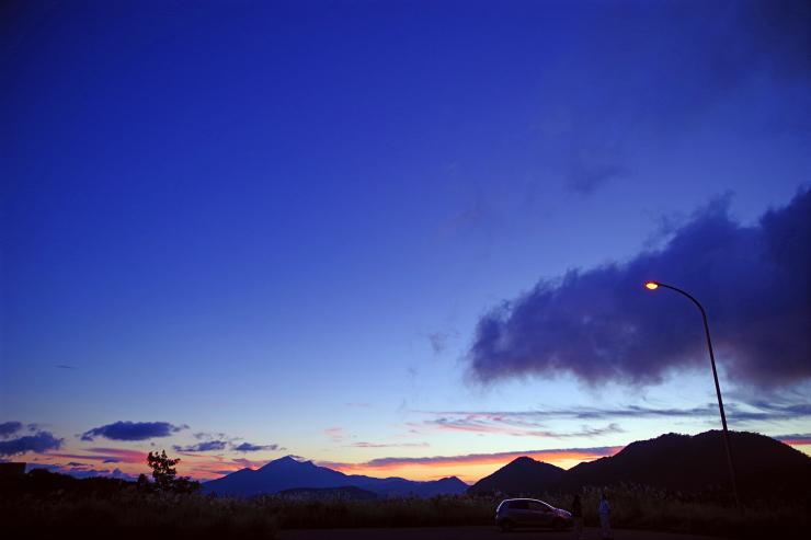 磐梯山夕暮れ