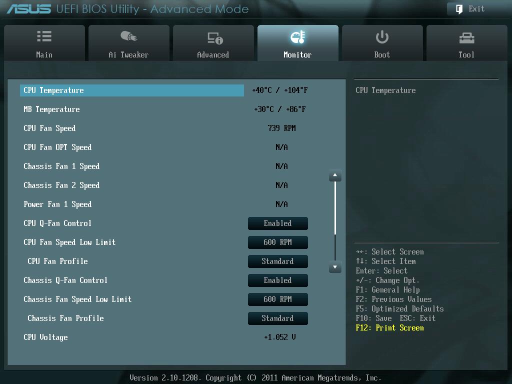 ASUS P8Z68-V PRO/GEN3 UEFI BIOS Utility English Monitor