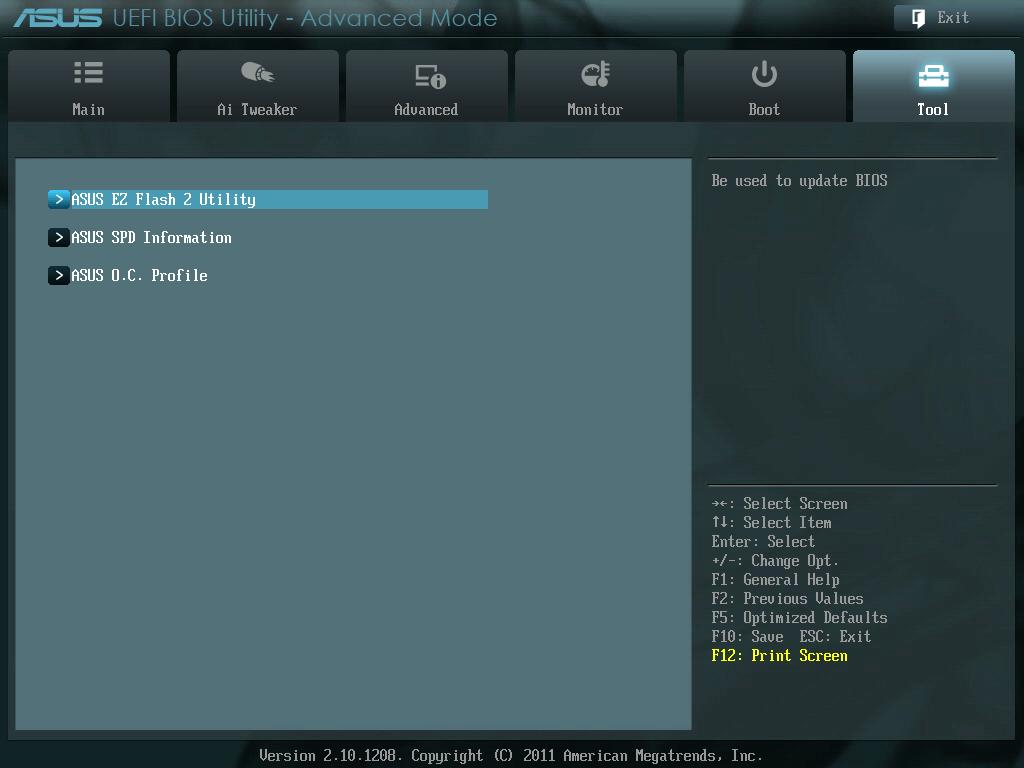 ASUS P8Z68-V PRO/GEN3 UEFI BIOS Utility English Tool