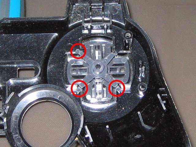 PS2 コントローラー(デュアルショック 2) スプレーを使ってメンテナンス、十字キーガイドをセットして再びドライファストルブを噴射