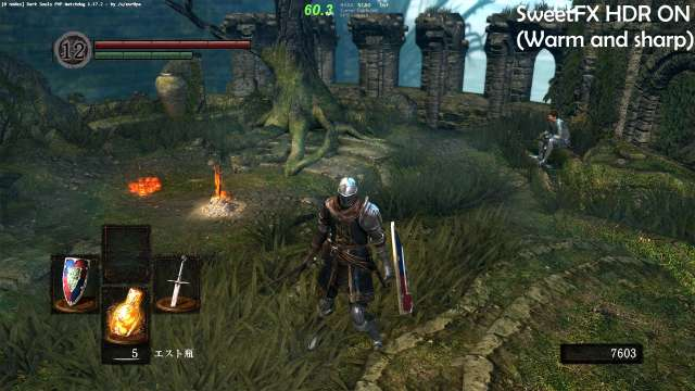 Dark Souls SweetFX HDR ON Warm and sharp