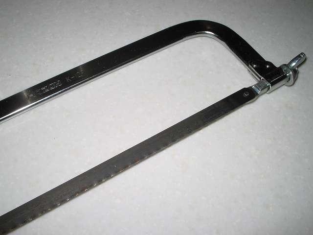 アレッポの石けんカット用に使用したホーザン K-129 金切りノコ のこぎり刃