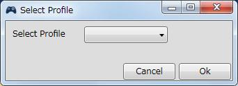 InputMapper 1.6.9 Profiles 画面で選択したプロファイルの編集画面内容 Macros タブで New Macro または Edit Macro をクリックしたときに開く Macro Builder 画面の Macro タブにある Fuctions タブ内にある Switch Profile ボタンをクリックしたときに開く Switch Profile 画面、プロファイルの変更