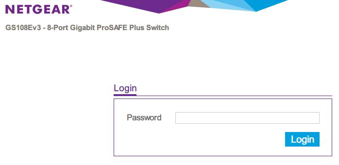 NETGEAR ネットギア アンマネージプラススイッチ ギガ 8ポート スイッチングハブ 管理機能付 無償永久保証 GS108E-300JPS ブラウザ画面で DHCP で割り当てられた IP アドレスを入力(http://xxx.xxx.xxx.xxx)してログイン画面を表示する
